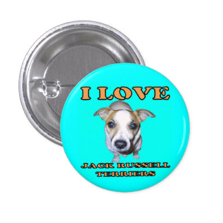 Jack Russell Terriers Button. 1 Inch Round Button
