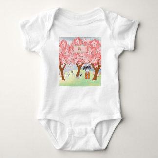 Jack Russell Terriers, Chinese Girl, Plum Tree Baby Bodysuit