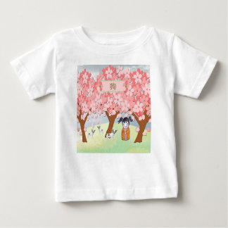 Jack Russell Terriers, Chinese Girl  Plum Tree Baby T-Shirt