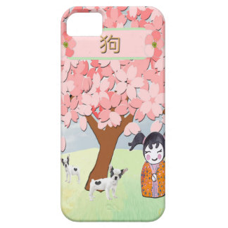 Jack Russell Terriers, Chinese Girl, Plum Tree iPhone 5 Cover