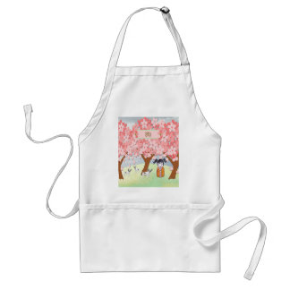 Jack Russell Terriers, Chinese Girl, Plum Tree Standard Apron