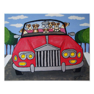 Jack Russell Terriers Joy Ride Poster