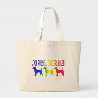 Jack Russell Terriers Rule Large Tote Bag