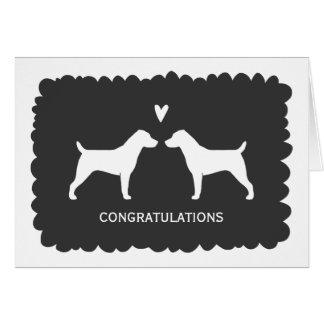 Jack Russell Terriers Wedding Congratulations Card