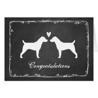 Jack Russell Terriers Wedding Congratulations Card