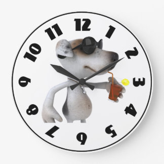 Jack Russell Wearing Sunglasses Clock