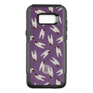 Jack Russell whimsical pattern monogrammed OtterBox Commuter Samsung Galaxy S8+ Case