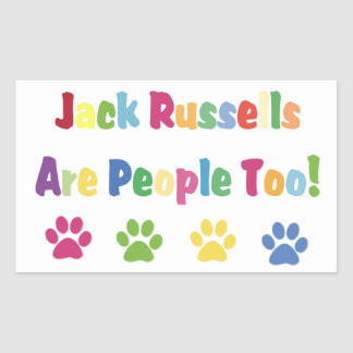 Jack Russells Are People Too Sticker