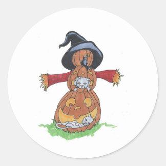 Jack Scarecrow Round Sticker