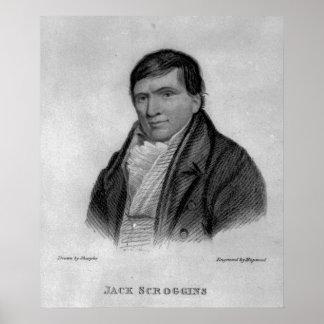 Jack Scroggins, engraved by Hopwood Poster