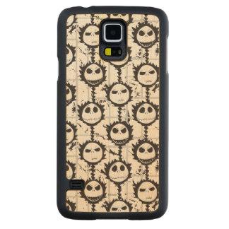 Jack Skellington - Pattern Carved Maple Galaxy S5 Case