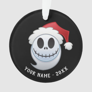 Jack Skellington Santa Emoji Ornament