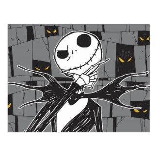 Jack Skellington   Spooky Eye Background Postcard