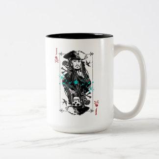 Jack Sparrow - A Wanted Man Two-Tone Coffee Mug