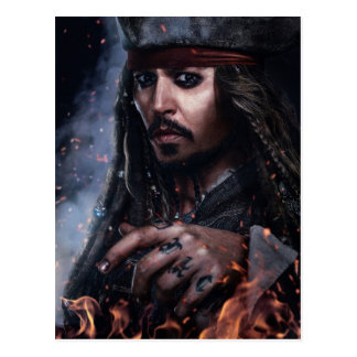 Jack Sparrow - Legendary Pirate Postcard