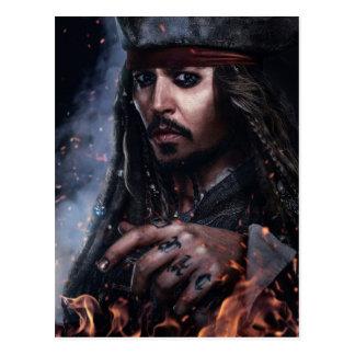 Jack Sparrow - Legendary Pirate Postcard