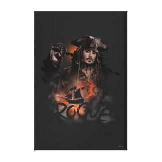 Jack Sparrow - Rogue Canvas Print