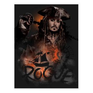 Jack Sparrow - Rogue Postcard