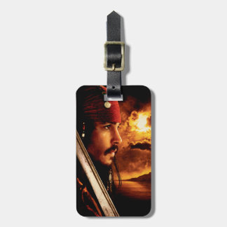 Jack Sparrow Side Face Shot Luggage Tag