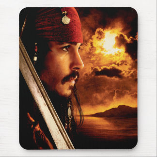 Jack Sparrow Side Face Shot Mouse Pad
