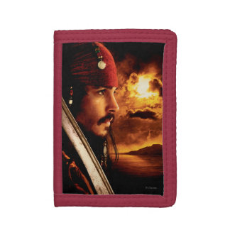 Jack Sparrow Side Face Shot Trifold Wallets