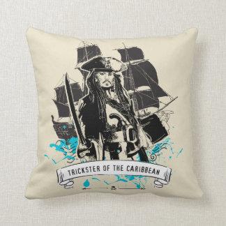 Jack Sparrow - Trickster of the Caribbean Throw Pillow