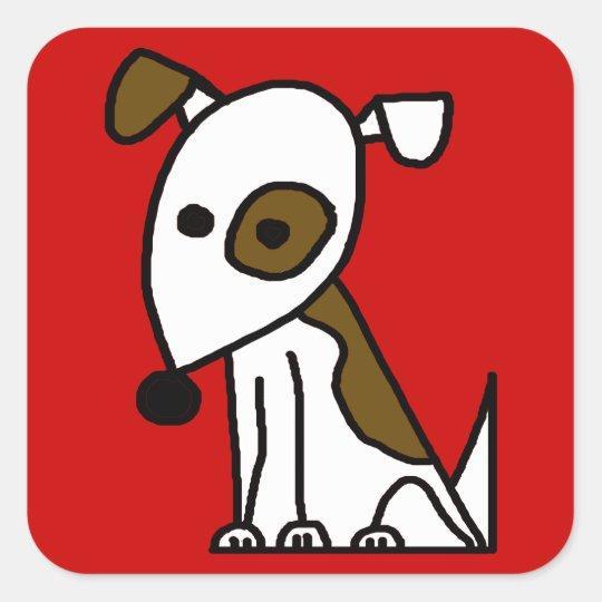 Jack Square Sticker