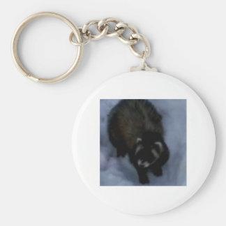 Jack the Ferret Accessories Basic Round Button Keychain