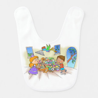 Jack & The Princess Friends Baby Bib