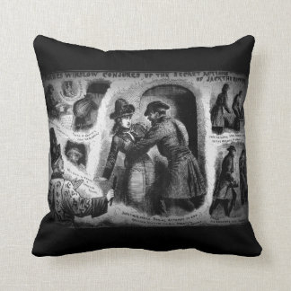 Jack the Ripper Illust Police News  Throw Pillow