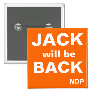 Jack will be Back 2 Inch Square Button