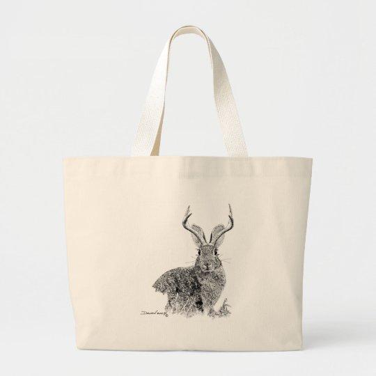 Jackalope Large Tote Bag