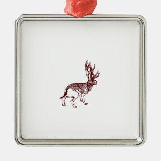 Jackalope Metal Ornament