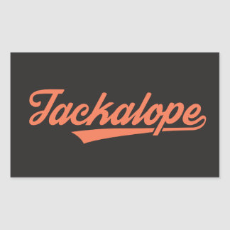 Jackalope sticker (rectangular 4 entering)