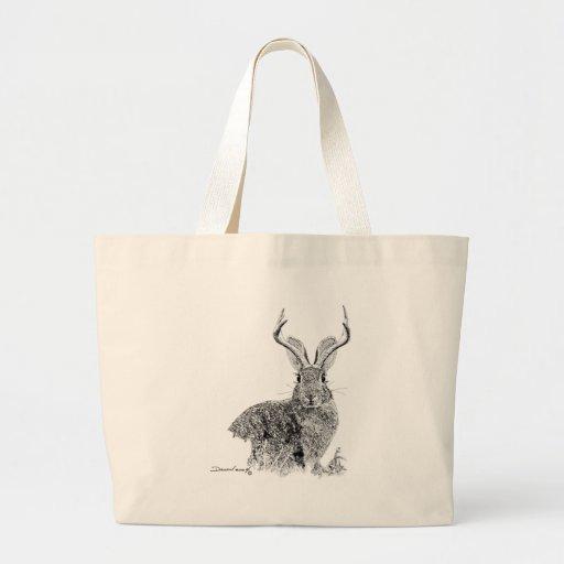 Jackalope Tote Bags