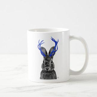 Jackalope with Blue Antlers Coffee Mug