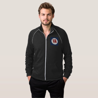 JACKET OF BLACK TRACK SUIT WHITE DESIGN THE USA