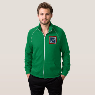 JACKET OF GREEN TRACK SUIT WHITE GRASS DESIGN THE