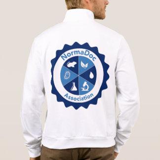 Jacket of jogging - Blue NormaDoc Logo (Back)