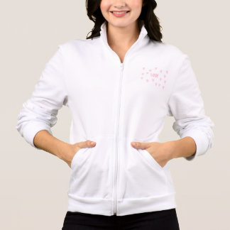 Jacket of jogging Coils and small heart for woman