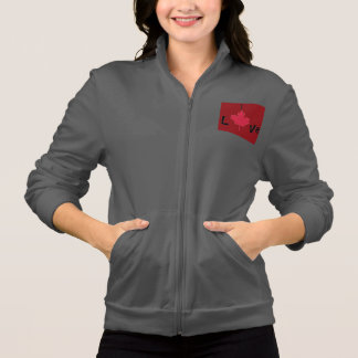 Jacket of jogging I coils Canada Rouge