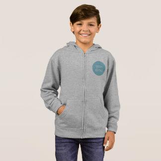 Jacket with hood, gray