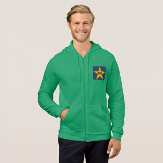 JACKET WITH HOOD GREEN GRASS DESIGN INDIANA THE