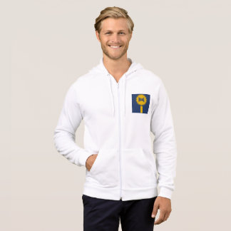 JACKET WITH WHITE HOOD SIGNAL DESIGN INDIANA THE