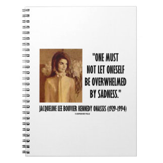 Jackie Kennedy Portrait Not Let Oneself Sadness Notebook