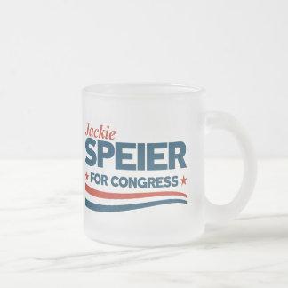 Jackie Speier Frosted Glass Coffee Mug