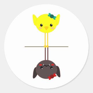 jackill bird bat classic round sticker