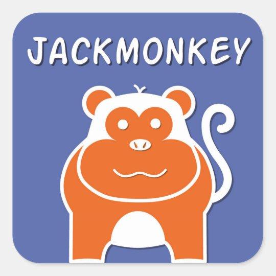JackMonkey   Year of the Monkey 2016 Square Sticker