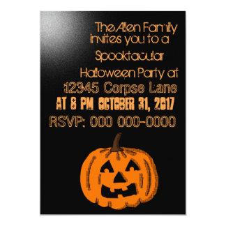 Jackolantern Halloween Party Card