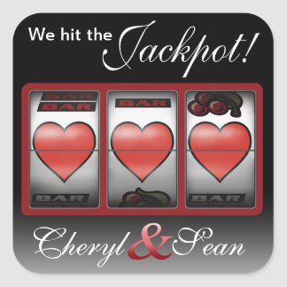 Jackpot Hearts We're Doing It In Vegas Sticker